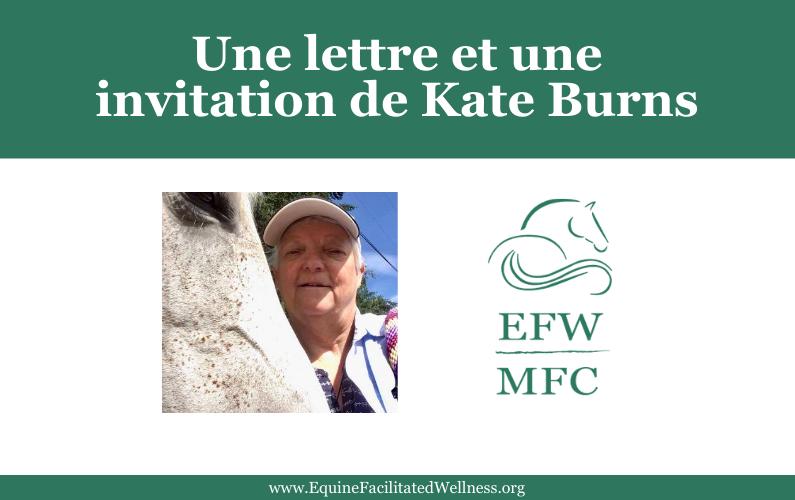 Une lettre et une invitation de Kate Burns